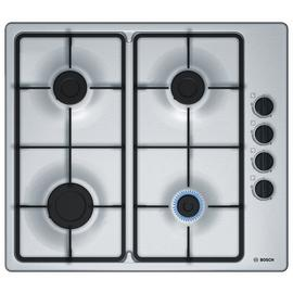 Bosch PBP6B5B60 Cast Iron Support Gas Hob - Stainless Steel