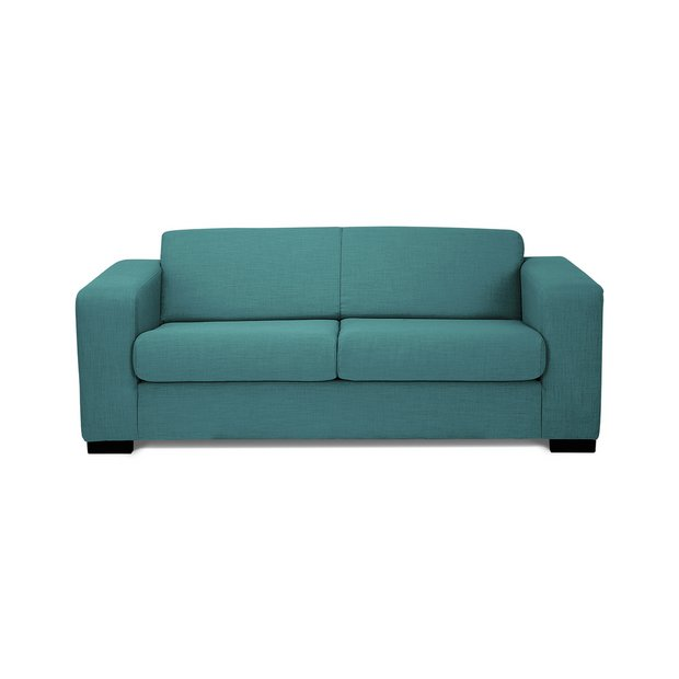 buy hygena new ava 2 seater fabric sofa bed teal at. Black Bedroom Furniture Sets. Home Design Ideas