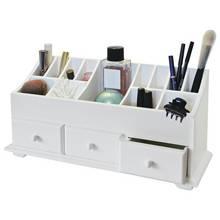 Argos Home 3 Drawer Cosmetics Caddy - White