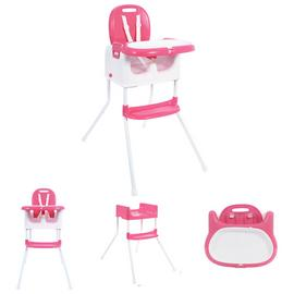 MyChild Graze 3 In 1 Multi Highchair - Pink.