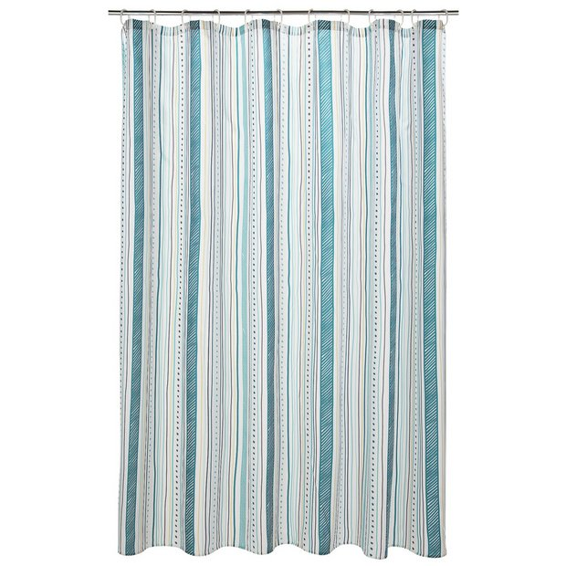 Buy heart of house alcott shower curtain at for Bathroom accessories argos