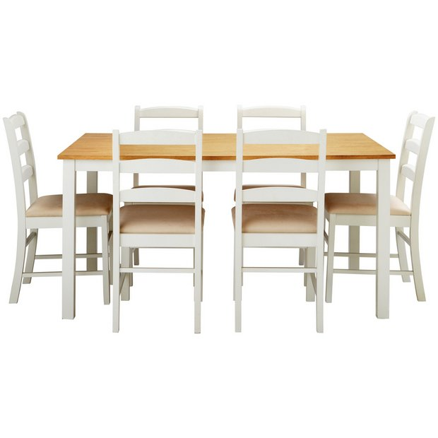 Buy Collection Hamstead Dining Table And 6 Chairs Two