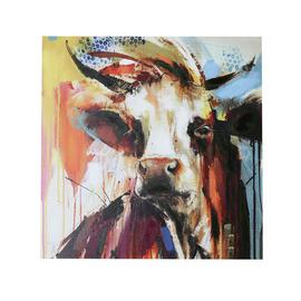 Arthouse Hereford Cow Handpainted Canvas