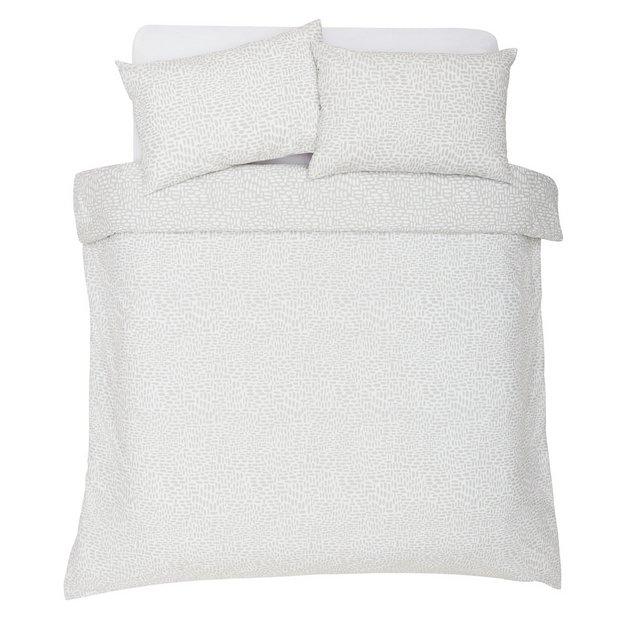 Buy Argos Home Sahara Grey Dash Print Bedding Set Double