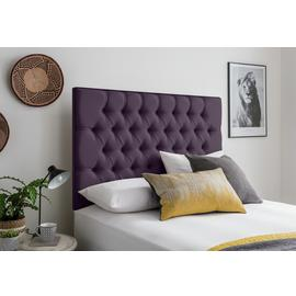 Silentnight Sassaria Superking Headboard - Purple
