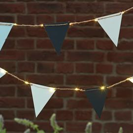 Argos Home 20 Warm White Bunting Solar String Lights