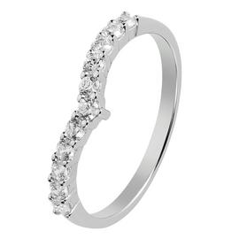 Revere Sterling Silver Cubic Zirconia Wishbone Ring