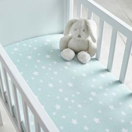 Silentnight Safe Nights Fitted Crib Sheet 2 Pack - Duck Egg