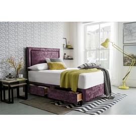 Silentnight Velvet Kingsize Divan Set - Purple