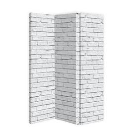 Arthouse Brick Effect Room Divider - White