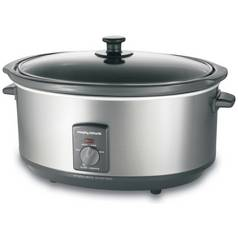 Morphy Richards 6.5L Slow Cooker - Stainless Steel