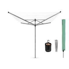 Brabantia 50m 4 Arm Lift-O-Matic Washing Line & Accessories