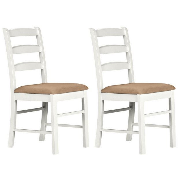buy collection hamstead pair of cream dining chairs at
