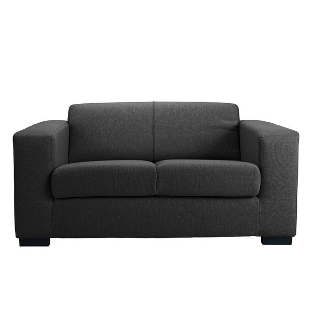 buy hygena new ava compact 2 seater fabric sofa charcoal. Black Bedroom Furniture Sets. Home Design Ideas