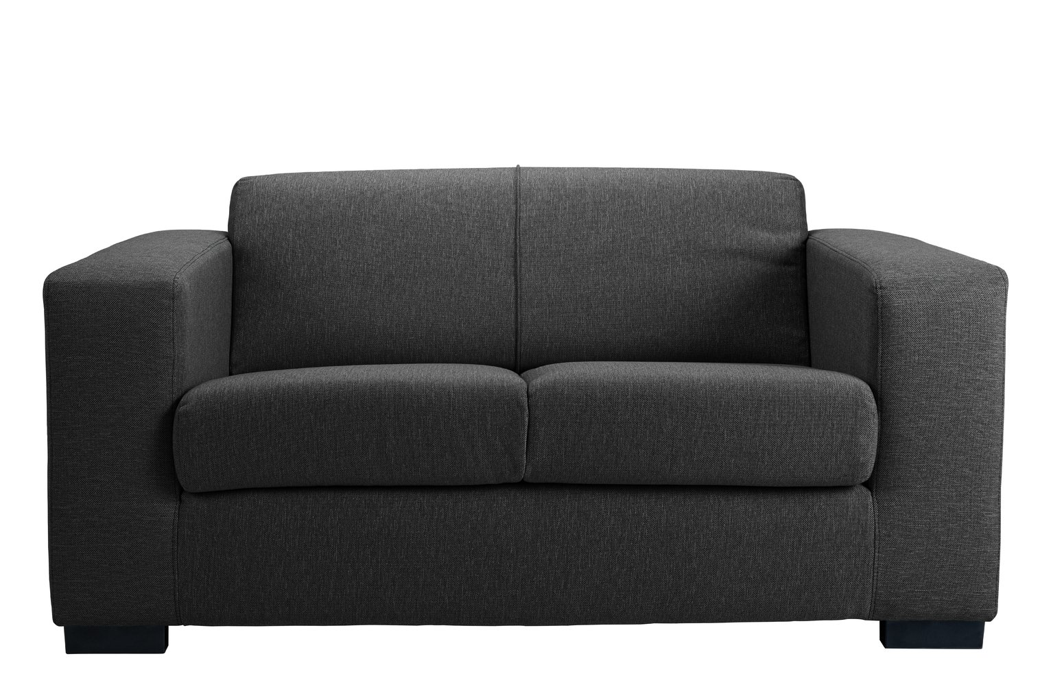 Hygena New Ava Compact 2 Seater Fabric Sofa   Charcoal