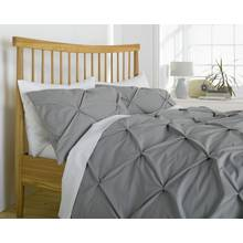 Heart of House Hadley Grey Pintuck Bedding Set - Double