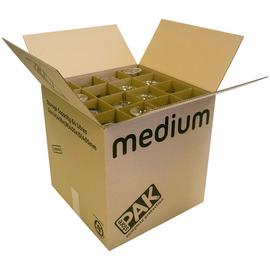 Storepak Glass Moving Cardboard Box with 32 Cell Division.
