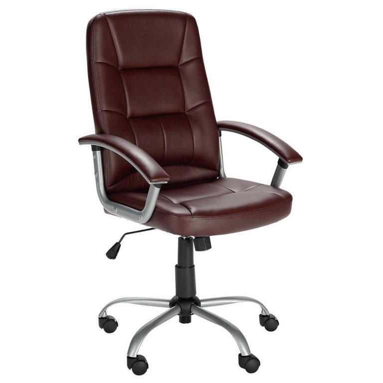 buy walker height adjustable office chair - brown at argos.co.uk