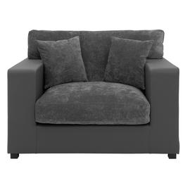 Argos Home Hartley Fabric Cuddle Chair - Charcoal
