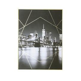 Arthouse City Capped Gold Foil Canvas