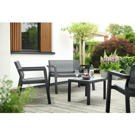 Keter Emily 4 Seater Rattan Effect Sofa Set