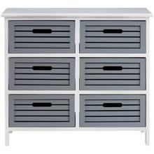 Premier Housewares Vermont 6 Drawer Unit - Grey.