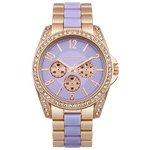 more details on Identity London Ladies' Stone Set Lilac Dial Bracelet Watch.