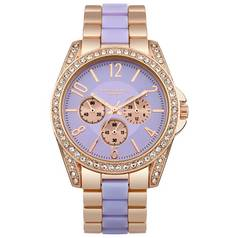 Identity London Ladies' Stone Set Lilac Dial Bracelet Watch