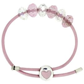 Miss Glitter S.Silver Kids Heart Clasp Made Up Pink Bracelet