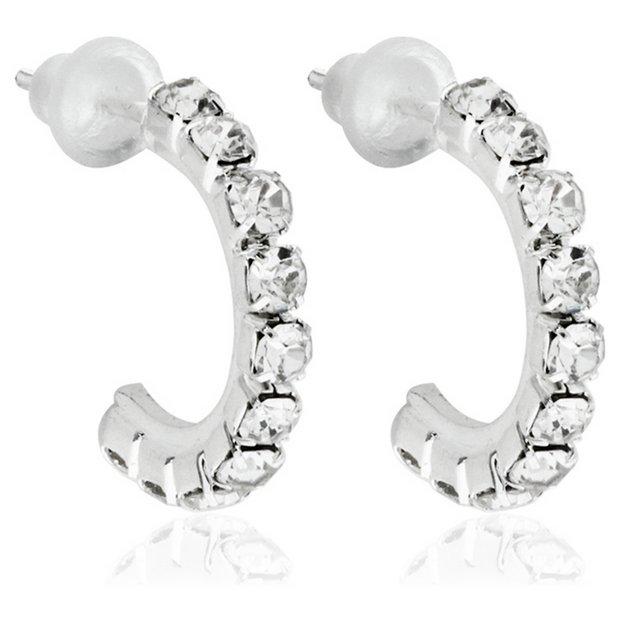 745ab29e43e Buy Link Up Mini Diamante Hoop Earrings   Womens earrings   Argos