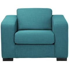 Hygena New Ava Fabric Chair - Teal