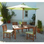 more details on Collection Madison 4 Seater Wooden Patio Set - Green.