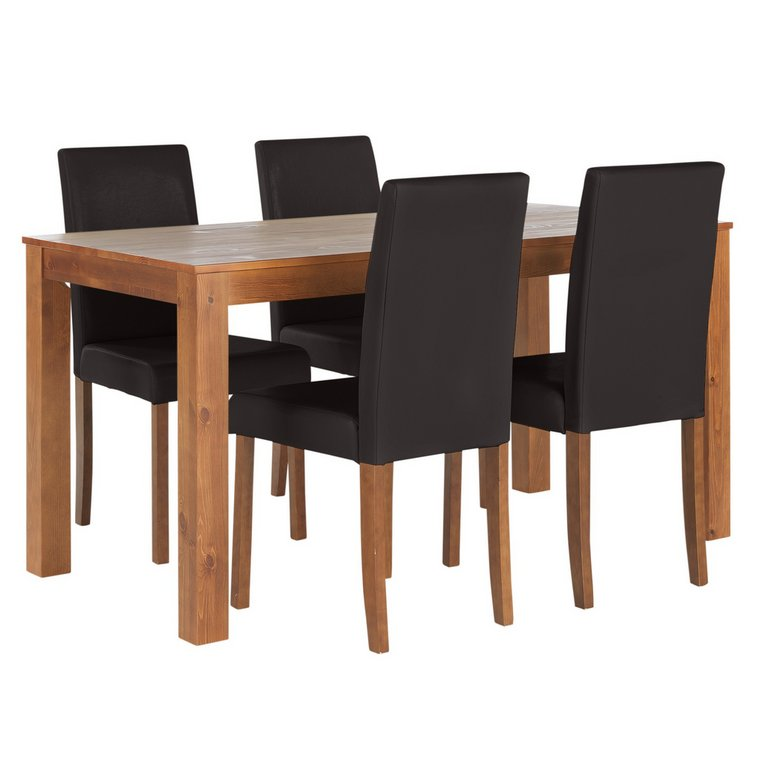 Buy HOME Newton Solid Wood Table amp 4 Mid Back Chairs  : 4536893RSETMain768ampw620amph620 from www.argos.co.uk size 620 x 620 jpeg 29kB
