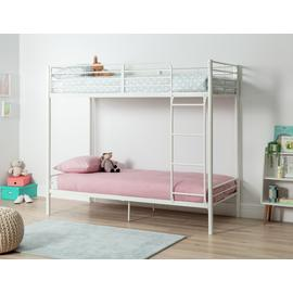 Argos Home Hearts Pink Single 4 Poster Bed & Kids Mattress