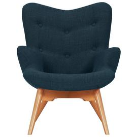 Argos Home Angel Fabric Accent Chair - Navy