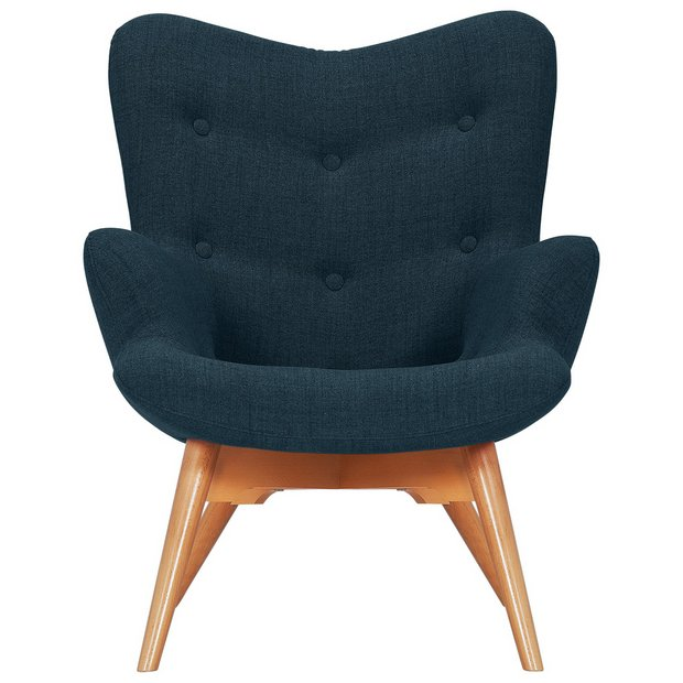 Buy Hygena Angel Fabric Chair Navy At Your