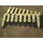 more details on Timber Picket Fence Lawn Edging - Pack of 2.