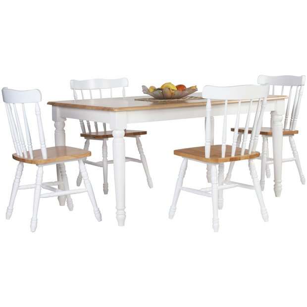 Buy heart of house amberley solid wood table 4 chairs at your online shop for Buy home furniture online uk