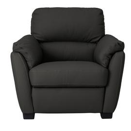 Argos Home New Trieste Leather Mix Armchair - Black