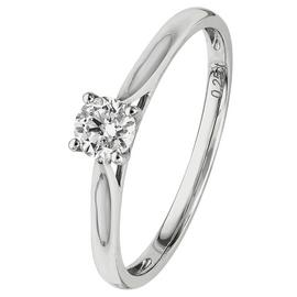 Revere 18ct White Gold 0.25ct tw Diamond Solitaire Ring