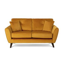 Argos Home Isla 2 Seater Velvet Sofa - Gold