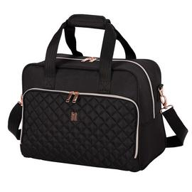 it Luggage Quilted Divinity Holdall Black Rosegold