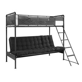 Argos Home Maddox Black Futon Bunk Bed