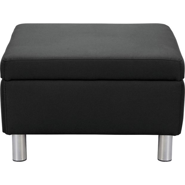 Buy Colourmatch Moda Fabric Footstool Black At Argos Co