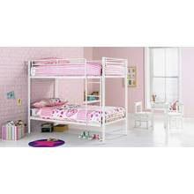 Argos Home Samuel Single Bunk Bed with Kids Mattress - White