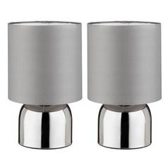Argos Home Pair of Touch Table Lamps - Flint Grey