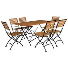 Flora 6 Seater Wooden Patio Set