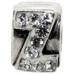 more details on Miss Glitter S.Silver Kids Stone Set Alphabet Charm - Z.