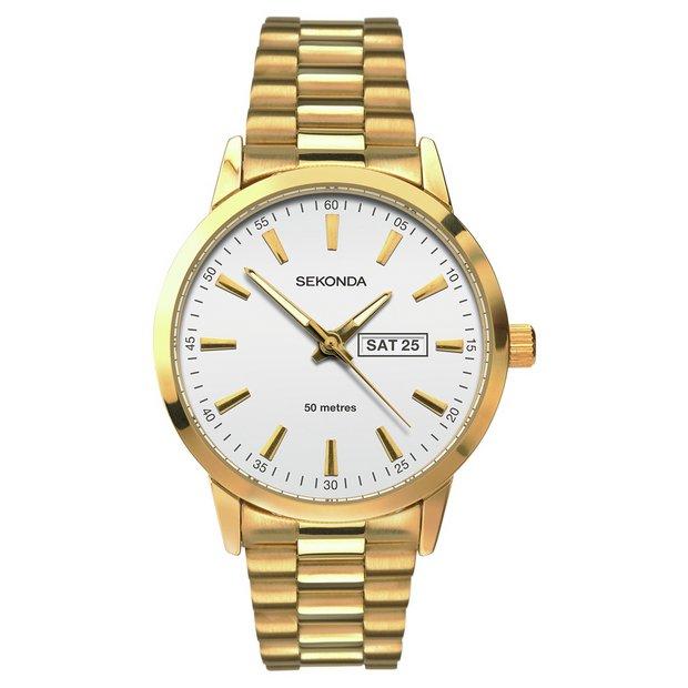 buy sekonda watches at argos co uk your online shop for more details on sekonda men s silver dial gold plated bracelet watch