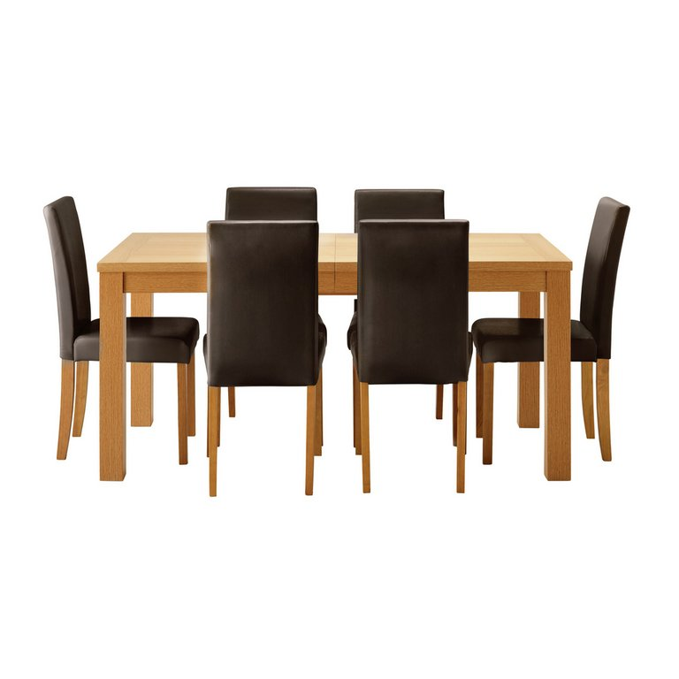 Buy HOME Hemsley Extendable Dining Table amp 6 Chairs  : 4557298RSETMain768ampw620amph620 from www.argos.co.uk size 620 x 620 jpeg 24kB